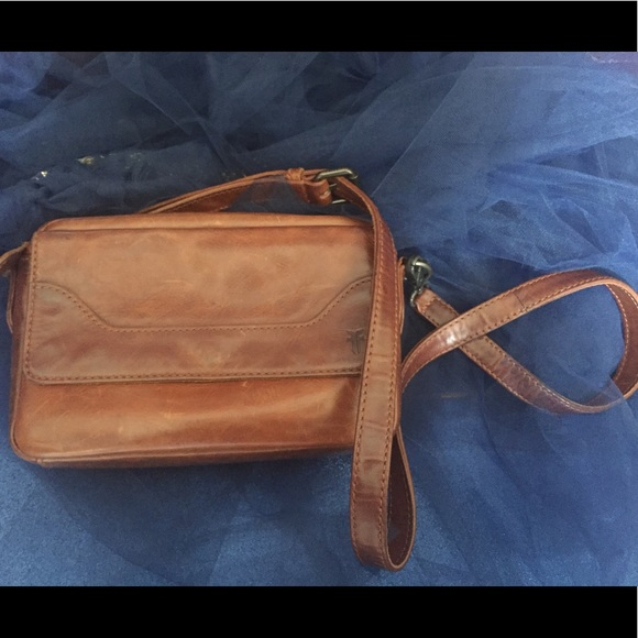 FRYE Claude Messenger Cross-Body Bag Whiskey DB268